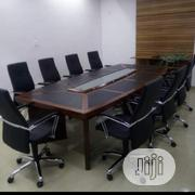 Excutive Conference Table With Glass Dimacatipn | Furniture for sale in Lagos State, Ojo