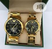 Emporio Armani Couples Gold Wristwatch | Watches for sale in Lagos State, Surulere
