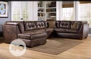 Brown Leather Sofa | Furniture for sale in Lagos State, Ikeja