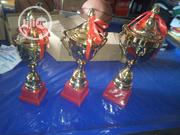 Set Of Small Gold Trophy By 3 | Arts & Crafts for sale in Lagos State, Ikeja