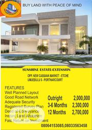 Sunshine Estate Extension: Opp. Cassava Market Umubulu 5 Port Harcourt | Land & Plots For Sale for sale in Rivers State, Port-Harcourt