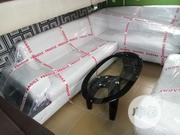 White Sofa Chair 7 Seater Set With Center Table Good Quality | Furniture for sale in Lagos State, Oshodi-Isolo