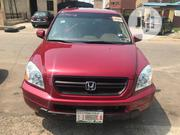 Honda Pilot 2004 EX-L 4x4 (3.5L 6cyl 5A) Red | Cars for sale in Lagos State, Ikeja