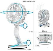 Portable Reachargeble Folding Fan With LED Light | Home Appliances for sale in Lagos State, Lagos Mainland