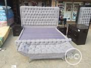 6x6 Upholstery Bedframe With Footrest | Furniture for sale in Lagos State, Ojo
