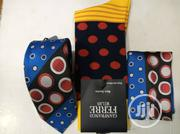 Set of Multi Coloured Designers Tie With Pocket Filler and Socks | Clothing Accessories for sale in Lagos State, Yaba