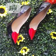 Ladies Designers Black and White Pointed Heeled Shoe With Red Design | Shoes for sale in Lagos State, Ikoyi