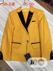 Children Yellow And Black Two-piece Suit (Jacket And Trousers) | Children's Clothing for sale in Lagos State, Lagos Island