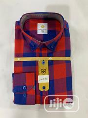 Quality Men's Designers Check Shirt in Red, Black and Blue Strips | Clothing for sale in Lagos State, Lekki Phase 1