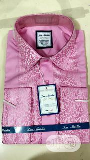 Quality Men's Designers Long Sleeved Shirts in Pink | Clothing for sale in Lagos State, Lekki Phase 1