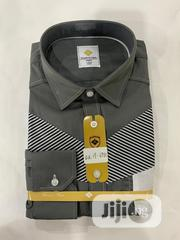 Quality Men's Designers Long Sleeved Office Shirts in Ash | Clothing for sale in Lagos State, Lekki Phase 1