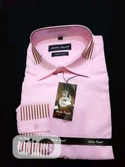 Quality Men's Designers Long Sleeved Shirts in Pink | Clothing for sale in Lagos State, Ikoyi