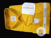 Quality Men's Designers Long Sleeved Office Shirts in Yellow | Clothing for sale in Lagos State, Victoria Island