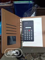 A5 2020 Inner Spiral Leather Diary With Calculator | Stationery for sale in Lagos State, Surulere