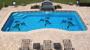 Swimming Pool Floor Design And Home Wall Design | Building & Trades Services for sale in Lagos State, Lekki Phase 1