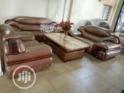 TK-103: 7 Seater Italian Leather Settee | Furniture for sale in Rivers State, Port-Harcourt