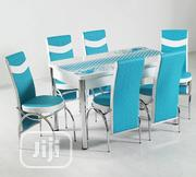 Extendable Glass Countertop Dining Table Set + 6 Chairs   Furniture for sale in Abuja (FCT) State, Kado