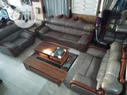Executive Quality Leather Chair With Centre Table T.V Stand | Furniture for sale in Lagos State, Ojo