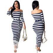 Long Srtiped Dress | Clothing for sale in Rivers State, Port-Harcourt