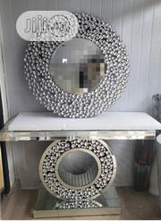 Clear Stone Wall Mirror And Table | Home Accessories for sale in Lagos State, Lekki Phase 2