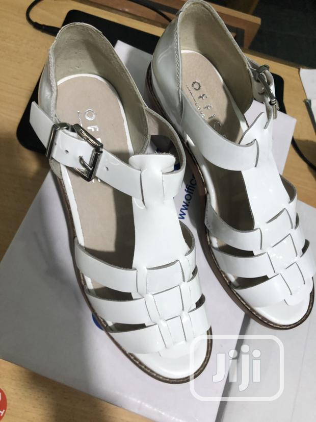 Archive: OFFICE LONDON White Patent Leather Sandal.