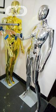 Silver & Gold Chrome Female Egg Face Detachable Mannequins | Store Equipment for sale in Lagos State, Lagos Island