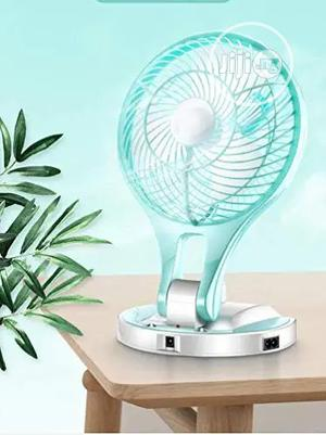 -5580 Model Powerful Rechargeable Table Fan With 21 Smd LED Lights