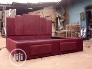 Oxblood Rayxour 7 by 6 King Bed | Furniture for sale in Edo State, Benin City