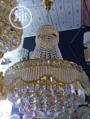 Crystal Chandelier Light Gold With LED Bulbs