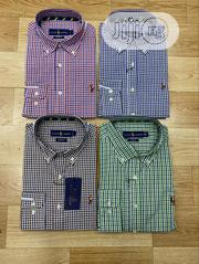 Polo Ralph Lauren Check Pattern Long Sleeve Shirts | Clothing for sale in Lagos State, Lagos Island