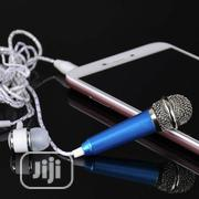Mini Karaoke Condenser Microphone Earphone Earpiece Phone PC Computer | Headphones for sale in Lagos State, Ojo