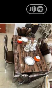 Marble Chocolate Dinning Set | Furniture for sale in Lagos State, Ojo