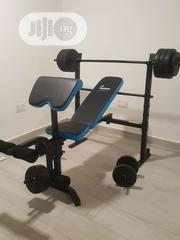 Weight Lifting Bench With Dumbell and 50kg Barbel | Sports Equipment for sale in Lagos State, Surulere