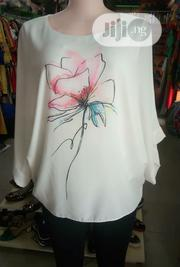 Flowered Cream Top For Ladies | Clothing for sale in Lagos State, Ajah