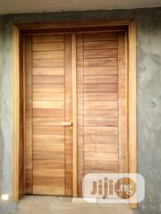Double Door Mahogany With Frame N Sketons | Doors for sale in Lagos State, Mushin