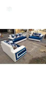 Pilow Bag Chair Combination Blue White   Furniture for sale in Lagos State, Ikeja