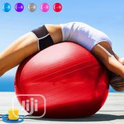 High Quality Gym Ball With Air Pump | Sports Equipment for sale in Lagos State, Victoria Island