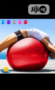 High Quality Anti Burst Gym Ball Wit Air Pump | Sports Equipment for sale in Lagos State, Magodo