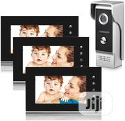 Video Doorbell Intercom Wired Doorphone 1 Camera With 3 Monitors | Home Appliances for sale in Lagos State, Ikeja