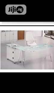 White Office Glass Table | Furniture for sale in Lagos State, Ojo