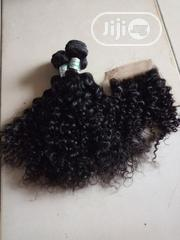 Kinky Curls Human Hair With Closure Available | Hair Beauty for sale in Lagos State, Ilupeju