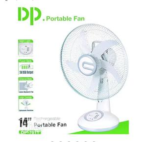 14-Inch Rechargeable Table Fan With LED Light