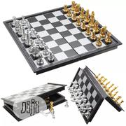 Foldable Magnetic Gold Chess Board Sets Gold&Silver | Sports Equipment for sale in Lagos State, Victoria Island