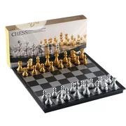 Foldable Magnetic Gold Chess Sets Gold&Silver Pieces | Sports Equipment for sale in Lagos State, Ikoyi