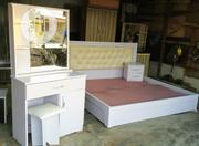New Bed Frame 6x6 With Dressing Mirror | Furniture for sale in Abuja (FCT) State, Lugbe