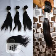 Grade 9A 100% 10inch 300gram Straight Humanhair With 10inch Closure | Hair Beauty for sale in Lagos State, Lagos Mainland