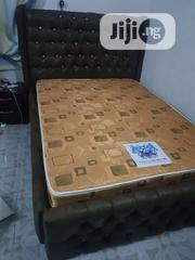 4x6 Upholstery Bedframe With Imported Spring Mattress | Furniture for sale in Lagos State, Ojo