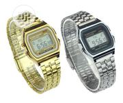Casio Digital Unisex Stainless Steel Watch With Alarm & Stopwatch | Watches for sale in Lagos State, Ajah