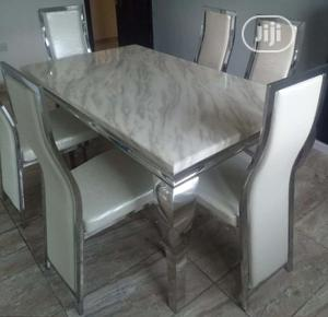Quality 6-Seater Marble Dining Table