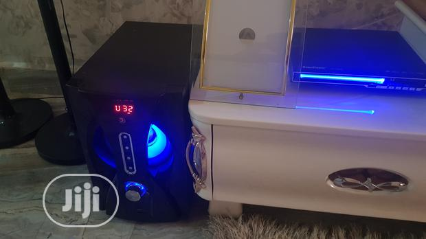Archive: Djac Home Theatre System With LED Light, Bluetooth, Speakers and Dvd